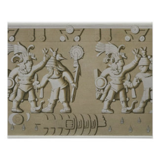 Bas Relief of Ancient Aztec Warriors, from The Sto Posters