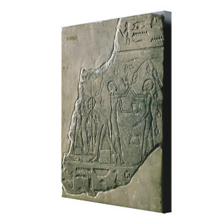 Bas relief of priestesses gathering grapes, 26th-3 canvas print