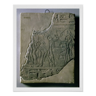 Bas relief of priestesses gathering grapes, 26th-3 print