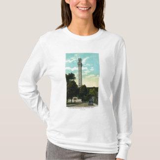 Bas Relief Tablet and Pilgrim Memorial View T-Shirt