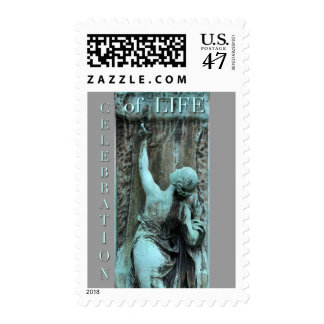 Bas-relief with Woman Celebration of Life Stamp