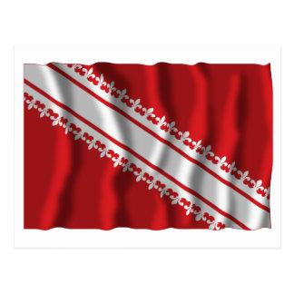 Bas-Rhin waving flag Post Card