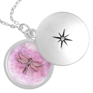 Basal and Squamous cell Carcinoma Awareness Ribbon Round Locket Necklace
