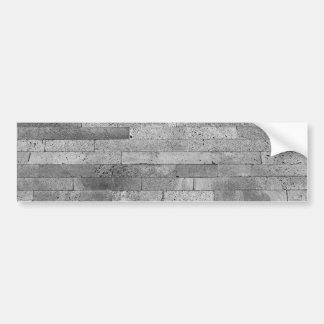 Basalt brick wall bumper sticker