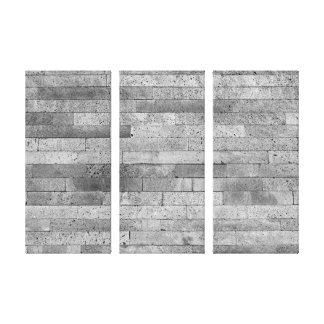 Basalt brick wall canvas print