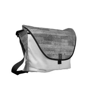 Basalt brick wall courier bag