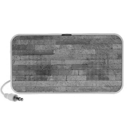 Basalt brick wall iPod speakers