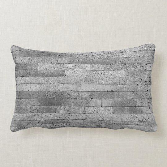 Basalt brick wall lumbar pillow