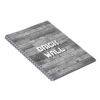 Basalt brick wall notebook