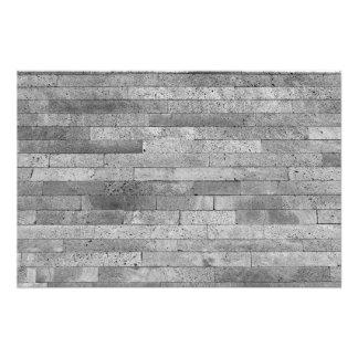 Basalt brick wall photo print