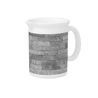 Basalt brick wall beverage pitchers