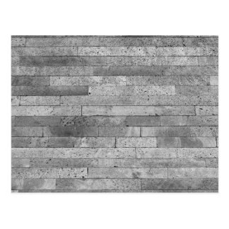 Basalt brick wall postcard