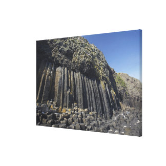 Basalt Columns by Fingal's Cave, Staffa, off Canvas Print