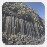 Basalt Columns by Fingal's Cave, Staffa, off Square Sticker