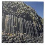 Basalt Columns by Fingal's Cave, Staffa, off Ceramic Tile
