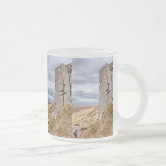 Basalt columns in Gerduberg Iceland Frosted Glass Coffee Mug