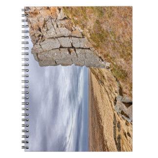 Basalt columns in Gerduberg Iceland Notebook