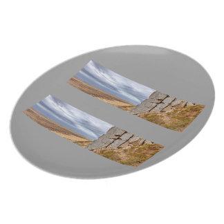 Basalt columns in Gerduberg Iceland Party Plate
