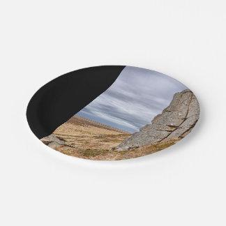 Basalt columns in Gerduberg Iceland 7 Inch Paper Plate