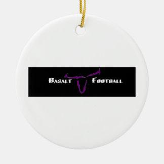 Basalt Longhorns Gear Ceramic Ornament
