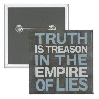 Basalt thruth is treason long-26 pinback button