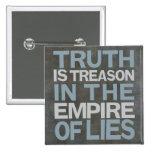 Basalt, thruth is treason long-26 pinback button