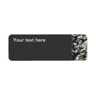 Basalto de la grava del guisante etiqueta de remitente