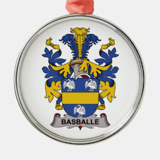 Basballe Family Crest Round Metal Christmas Ornament