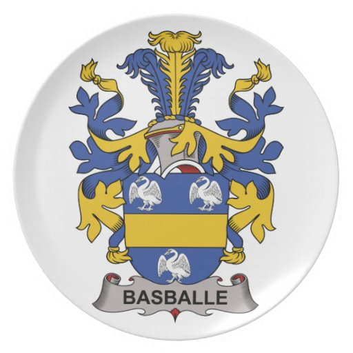 Basballe Family Crest Party Plate