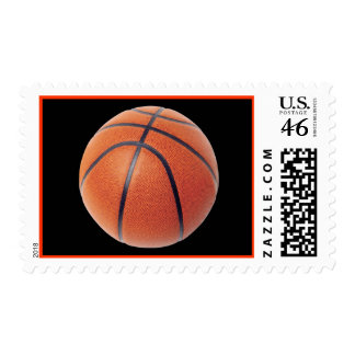 Bascketball Ball Postage Stamp