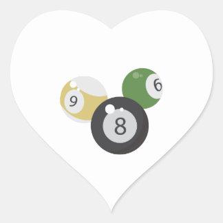 base 8Ball Pegatina En Forma De Corazón