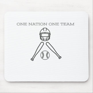 Base BAll..One Nation one Team . Mouse Pad