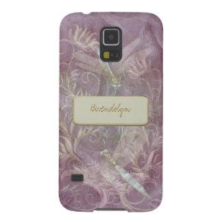 Base cambiante del color floral del Flourish de Carcasas De Galaxy S5