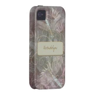 Base cambiante del color floral del Flourish de la Vibe iPhone 4 Carcasas