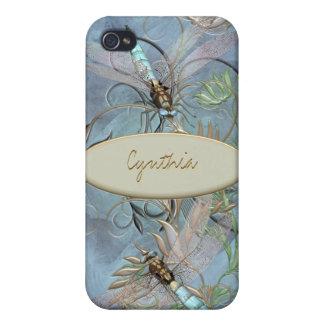Base cambiante del color floral del Flourish de la iPhone 4 Carcasas