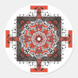 base chakra classic round sticker