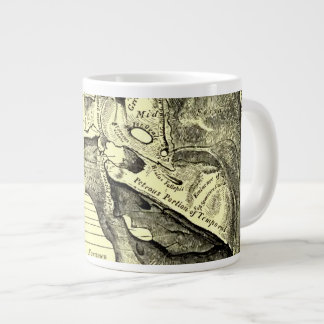 Base de la anatomía el   del vintage de la taza de café gigante