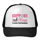 Base de la ayuda del cáncer de pecho 2da gorros bordados