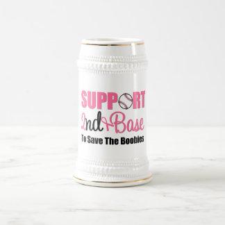 Base de la ayuda del cáncer de pecho 2da jarra de cerveza