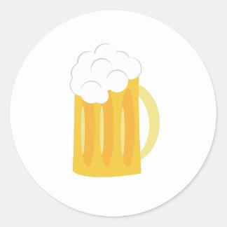 Base de la cerveza pegatina redonda