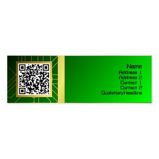 Base de la energía resistente tarjetas de visita mini