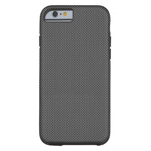Base de la fibra de carbono de Kevlar Funda De iPhone 6 Tough