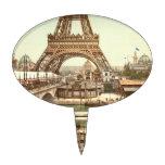 Base de la torre Eiffel, París, Francia Figura Para Tarta