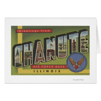 Base de las fuerzas aéreas de Chanute - escenas gr Tarjeta De Felicitación