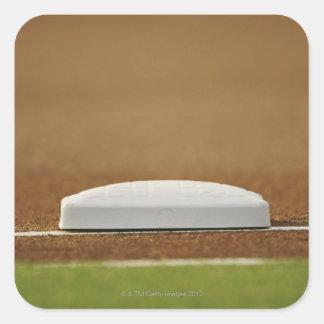 Base del béisbol pegatina cuadrada