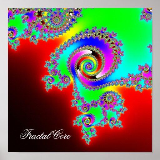 Base del fractal - imágenes del interior infinito póster