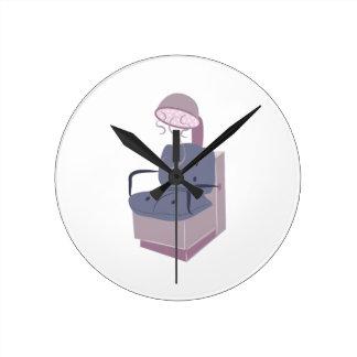 Base del secador de pelo reloj de pared