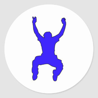 BASE Jumper Silhouette Free Falling Jump Stickers