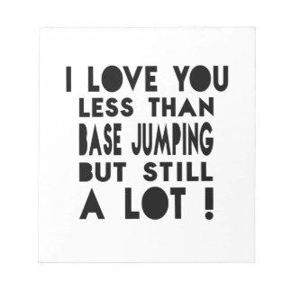 Base Jumping Designs Memo Pads