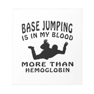Base Jumping designs Note Pads